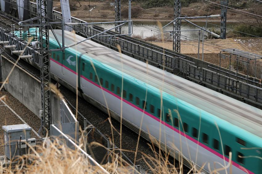 20170222新幹線~一関トンネル手前3