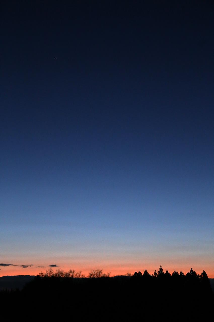 20170227夕焼けと金星