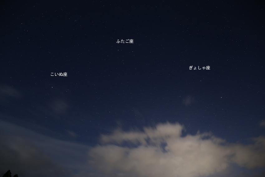 20170316西の空の冬の星座たち