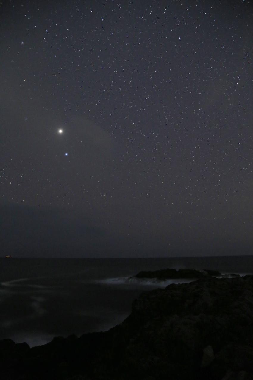 20170319波と木星とスピカ・カラス座