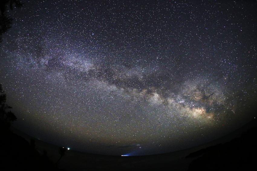 20170325御崎岬に昇る天の川2