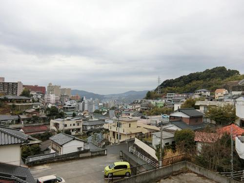 13日、朝の長崎は小雨です。