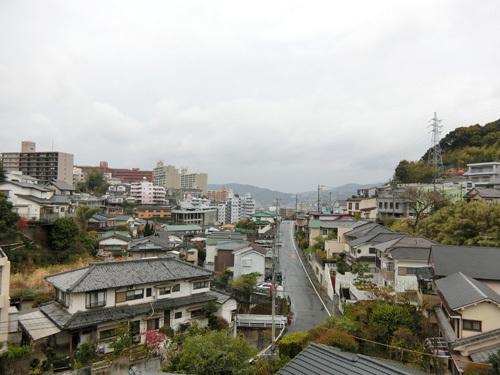 今日の長崎は予報通りの雨。