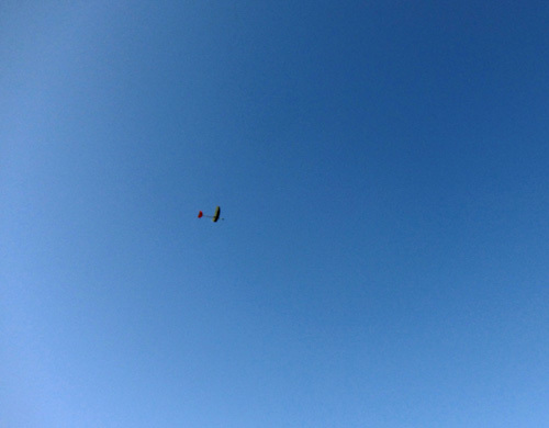 ハンド練習中~! kh-1605、オバハン垂直尾翼の方。