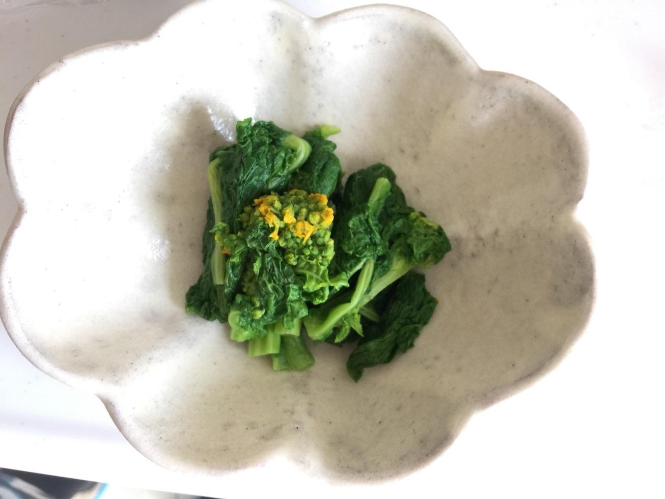 菜の花のおひたし
