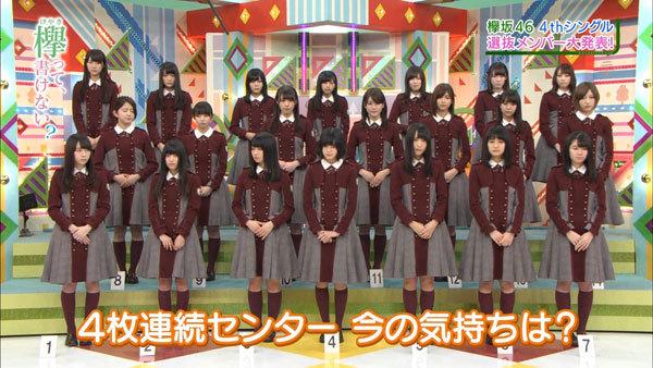 欅坂46 4thシングル選抜メンバー&フォーメーション3