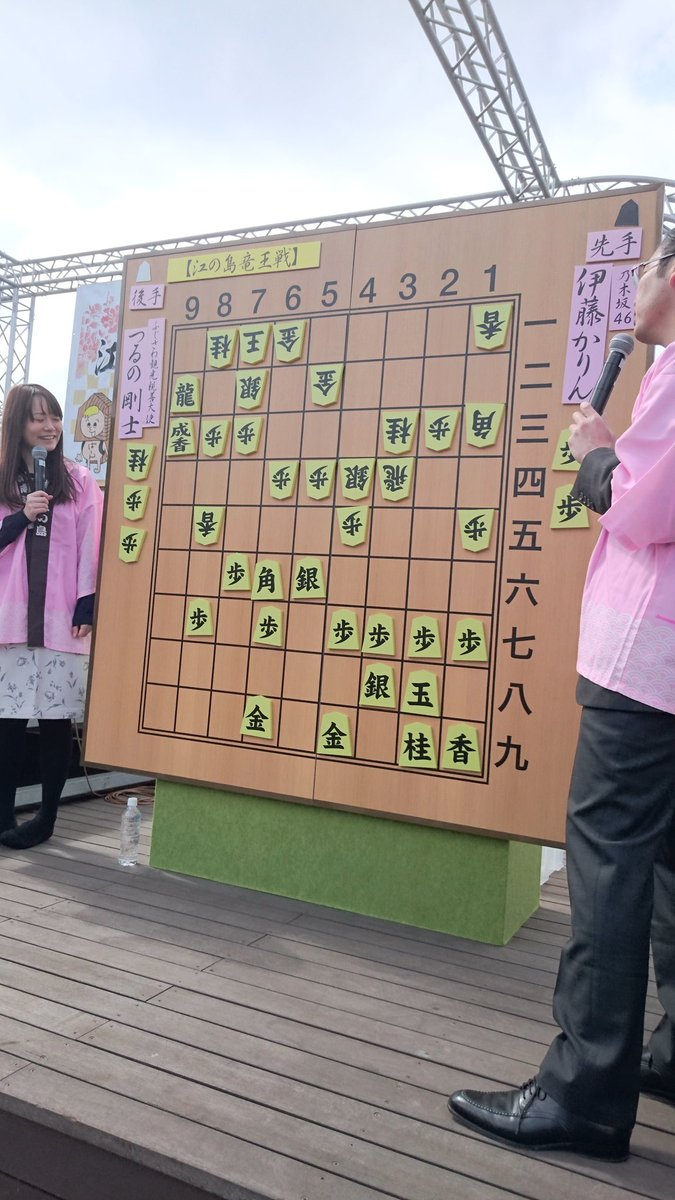 伊藤かりん つるの剛士 江の島将棋頂上決戦