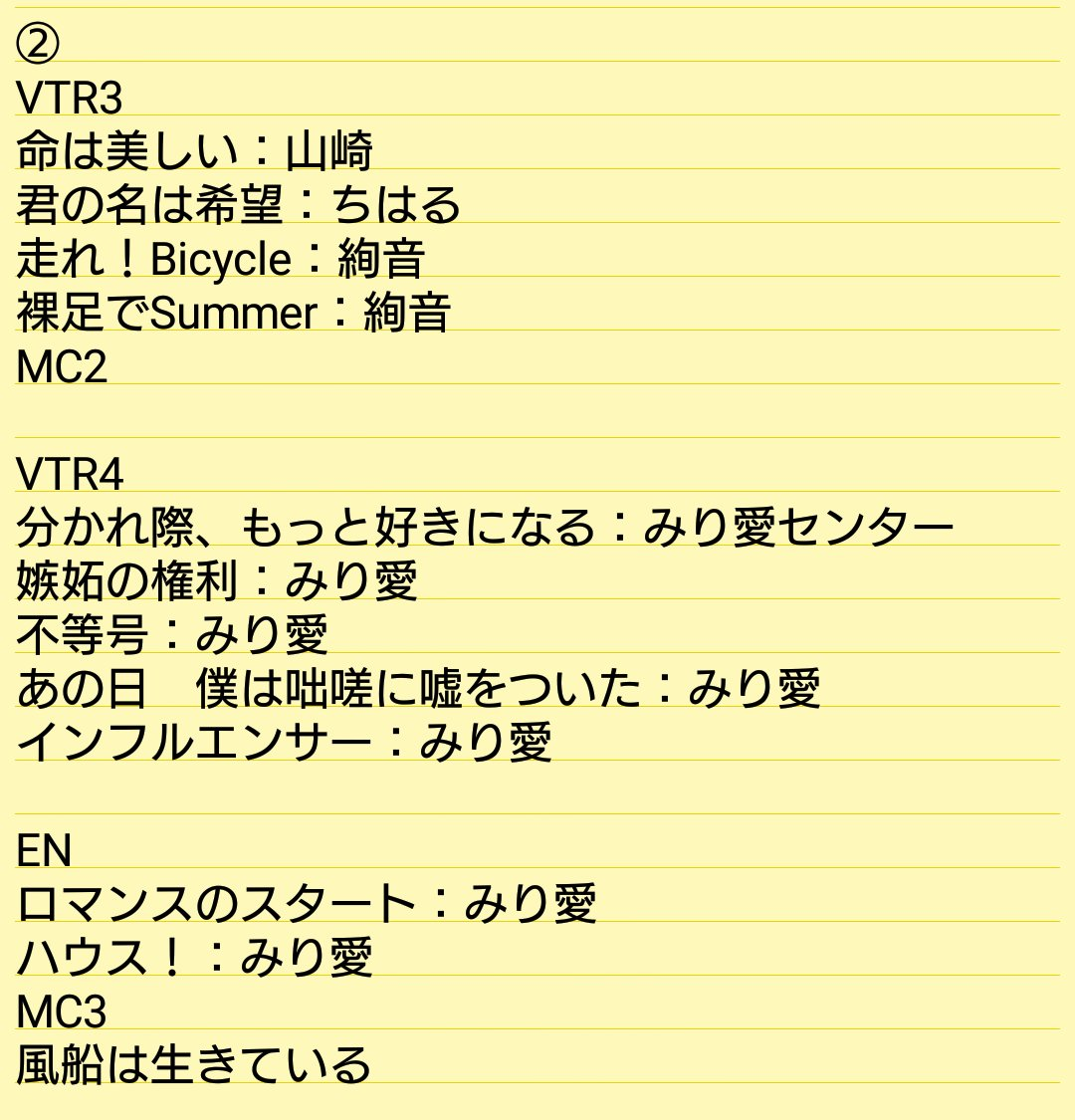 乃木坂46「アンダーライブ全国ツアー2017」東京公演・初日セトリ2