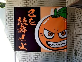 愛媛FC・オーレ君の応援フラッグ