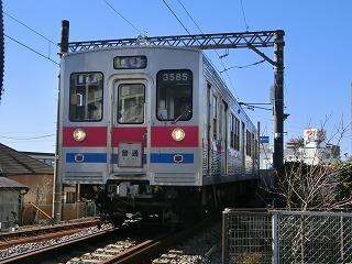 高砂駅発車後高架線を降りてくる3588F②
