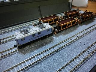 鉄コレの近江鉄道ED14と連結させたホキ10形風貨車