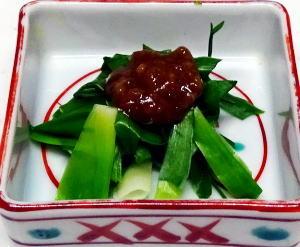ヤブカンゾウ酢味噌