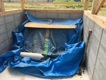 堆肥置き場の屋根まで完了2