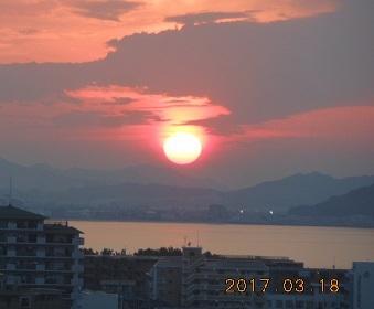 18日夕陽
