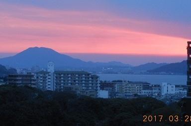 28日夕陽