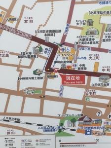 土塁付近の地図