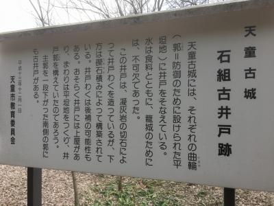 井戸の説明板