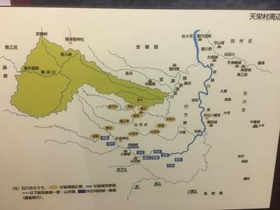天栄村周囲の主要城館地図