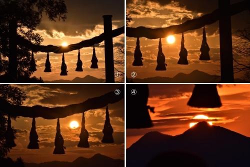 桧原神社夕陽