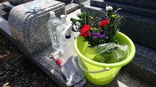 DSC_0286お墓の掃除