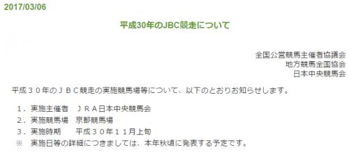 【競馬】平成30年に京都でJBC?!
