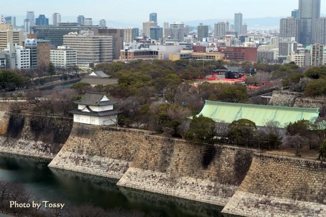 大阪城西ノ丸方面