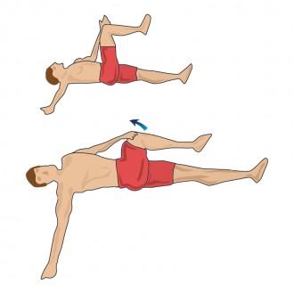 中臀筋のストレッチ