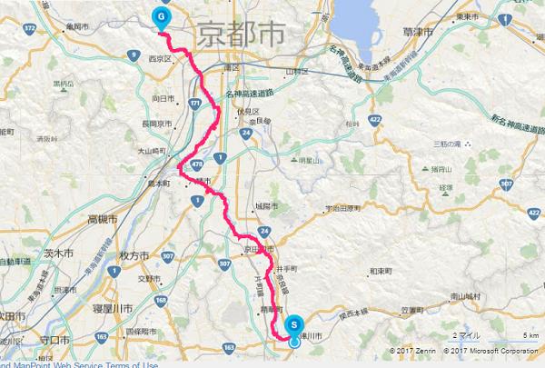 京都自転車道 地図