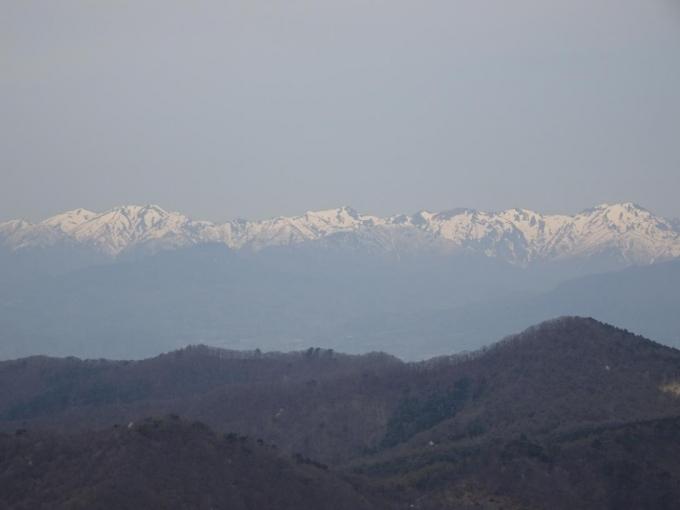 火起山から谷川連峰