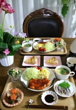 花金のポークケチャップ定食5