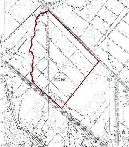 大正5年地形図 稲積農場一帯