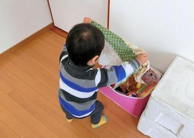 おもちゃ箱片付け