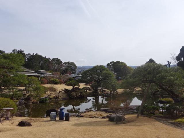 三養荘 松風から見る庭
