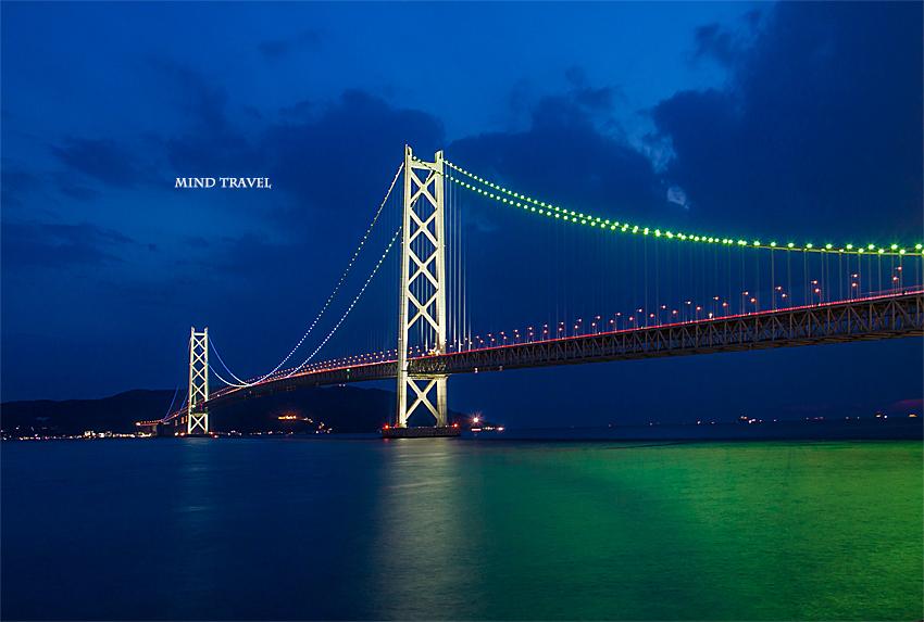 明石海峡大橋 ライトアップ