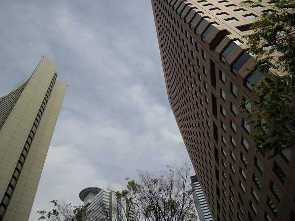 新宿ビルの風景