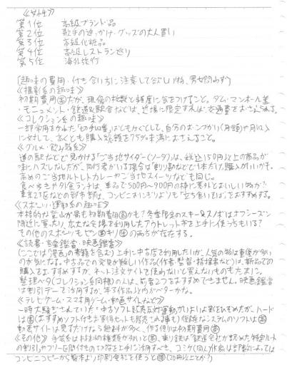 勝手に趣味ランキングp2(上)