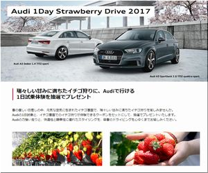 懸賞 Audi 1Day Strawberry Drive 2017