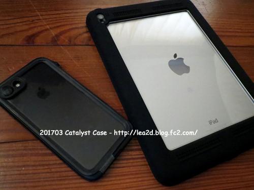 201704 iPad Air 2 と iphone7 に 強靱な完全防水・防塵ケースでカタリストケース
