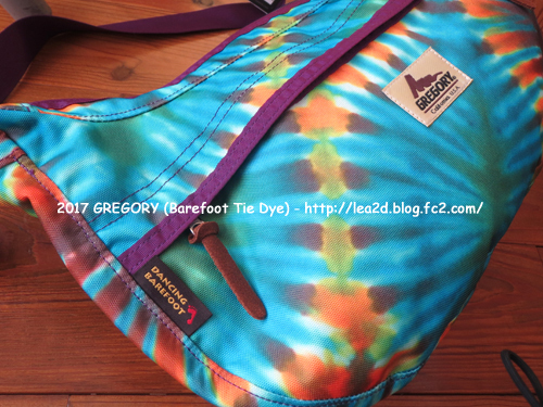 2017 GREGORY のBarefoot Tie Dye なショルダーバッグ ♪