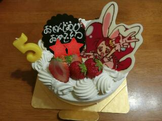 5歳のバースデーケーキ