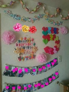 5歳の誕生日飾り付け