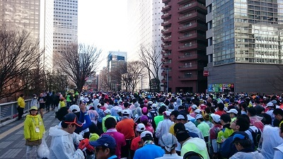 東京マラソン スタート前