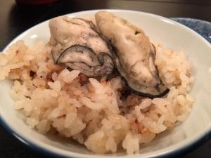 牡蠣ご飯。
