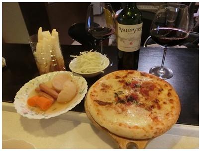 チリワインとポトフとマルゲリータ1