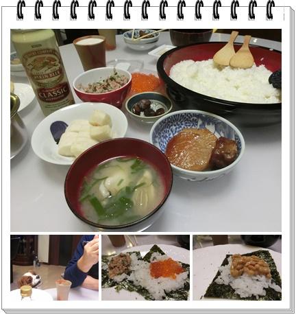 poco誕生日の日のお寿司