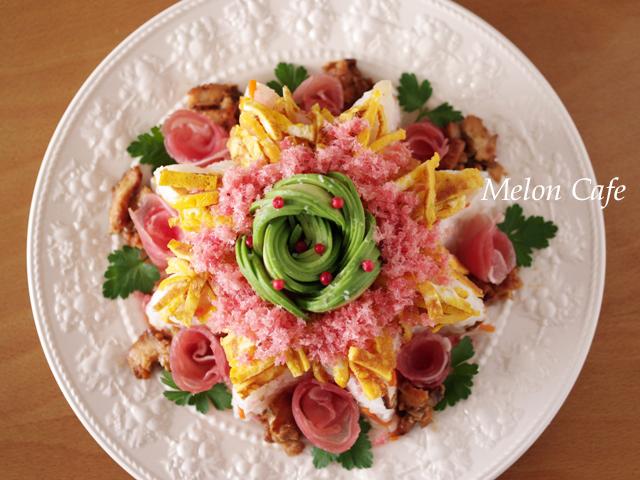 ひな祭りの寿司ケーキ00