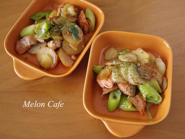 鮭と野菜のしょうゆバター炒め04