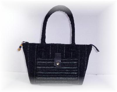 裂き織りバッグ11-1