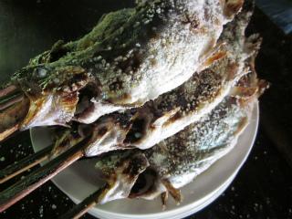 鱒の塩焼き