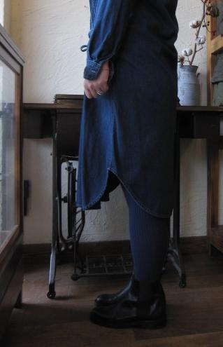 kaitalシャツデニム裾